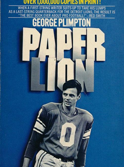 The Writer as Football Hero