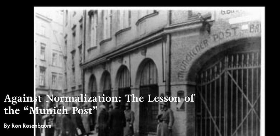"""Against Normalization: The Lesson of the """"Munich Post"""""""